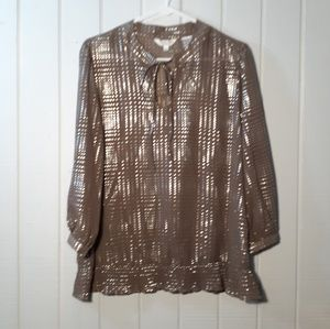 Tops - Holographic Silk womens top. Size large